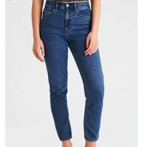 American Eagle Dark Wash High Rise Mom Jeans
